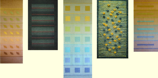 Hand woven rugs and wall hangings